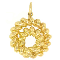 18kt Shrimp Circle Pendant, by Tiffany & Co.