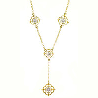 Vittoria Florentine Engraved Diamond Necklace made in Italy for Cynthia Scott Jewelry