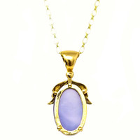 Chalcedony & 18kt Sylvia Pendant made in Italy by Cynthia Scott Jewelry