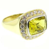 Canary Tourmaline, Diamond, Platinum & 18kt Aphrodite Ring by Cynthia Scott Jewelry