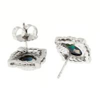 Black Opal Alessia Earrings made in Italy by Cynthia Scott Jewelry
