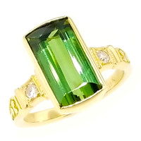 Green Tourmaline Ivy Ring by Cynthia Scott Jewelry