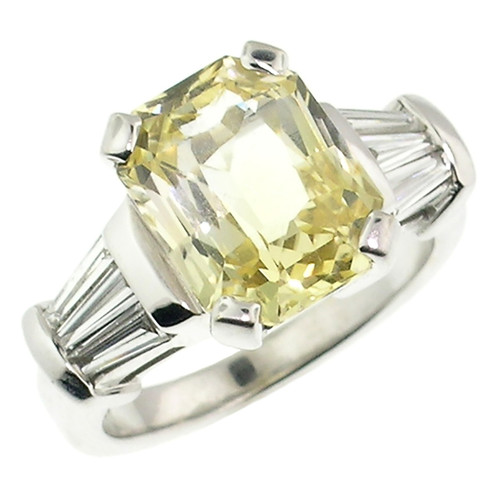 Yellow Sapphire and Diamond Custom Ring