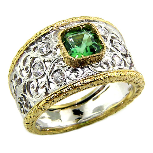 Green Tourmaline Contessa Ring