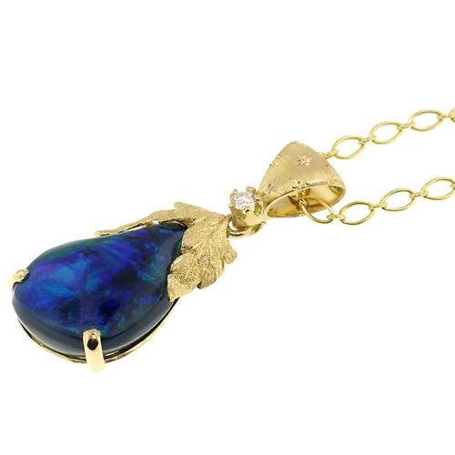 Black Opal Sylvia Pendant