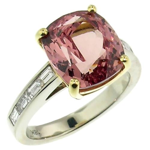 Malaya Garnet & Diamond Custom Ring