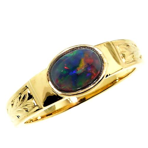 Black Opal Cassandra Ring