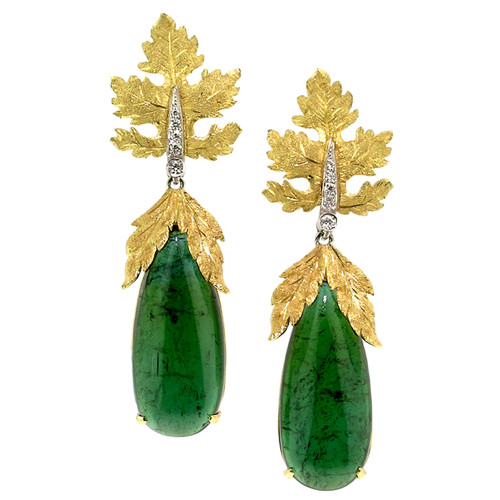 Green Tourmaline Sylvia Earrings