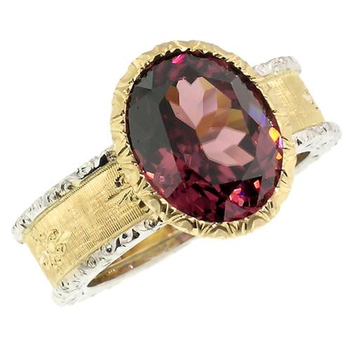 Tanzanian Pink Zircon Sienna Ring
