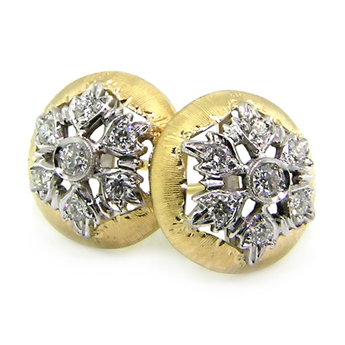 Liliana Diamond Button Earrings