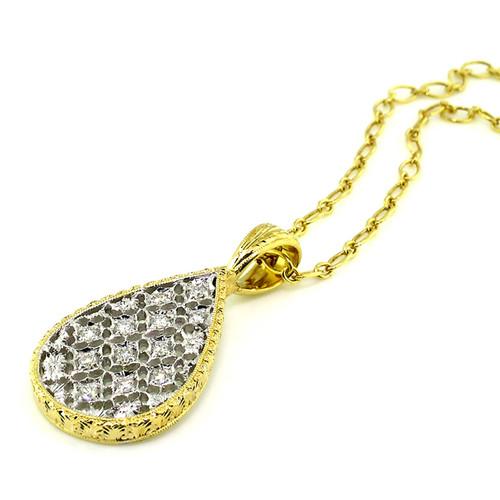 Florentine Lace Diamond Pendant
