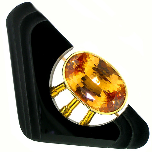 Grossular Garnet and Carved Black Chalcedony Brooch/Pendant