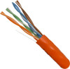 1000ft Cat6 Stranded Cable 24AWG 550MHz Orange