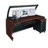 "64"" LCD Monitoring Desk Dark Cherry"