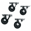 4 DTRK Series Middle Atlantic Casters DTRK-W