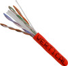 1000ft Cat6 23AWG 550MHz 8C Solid Cables Red