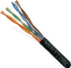 1000ft Cat6 Stranded Cable 24AWG 550MHz Black | Vertical Cable 063-511/ST/BK