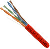 Vertical Cable 1000ft Cat6 Stranded Cable 24AWG 550MHz Red