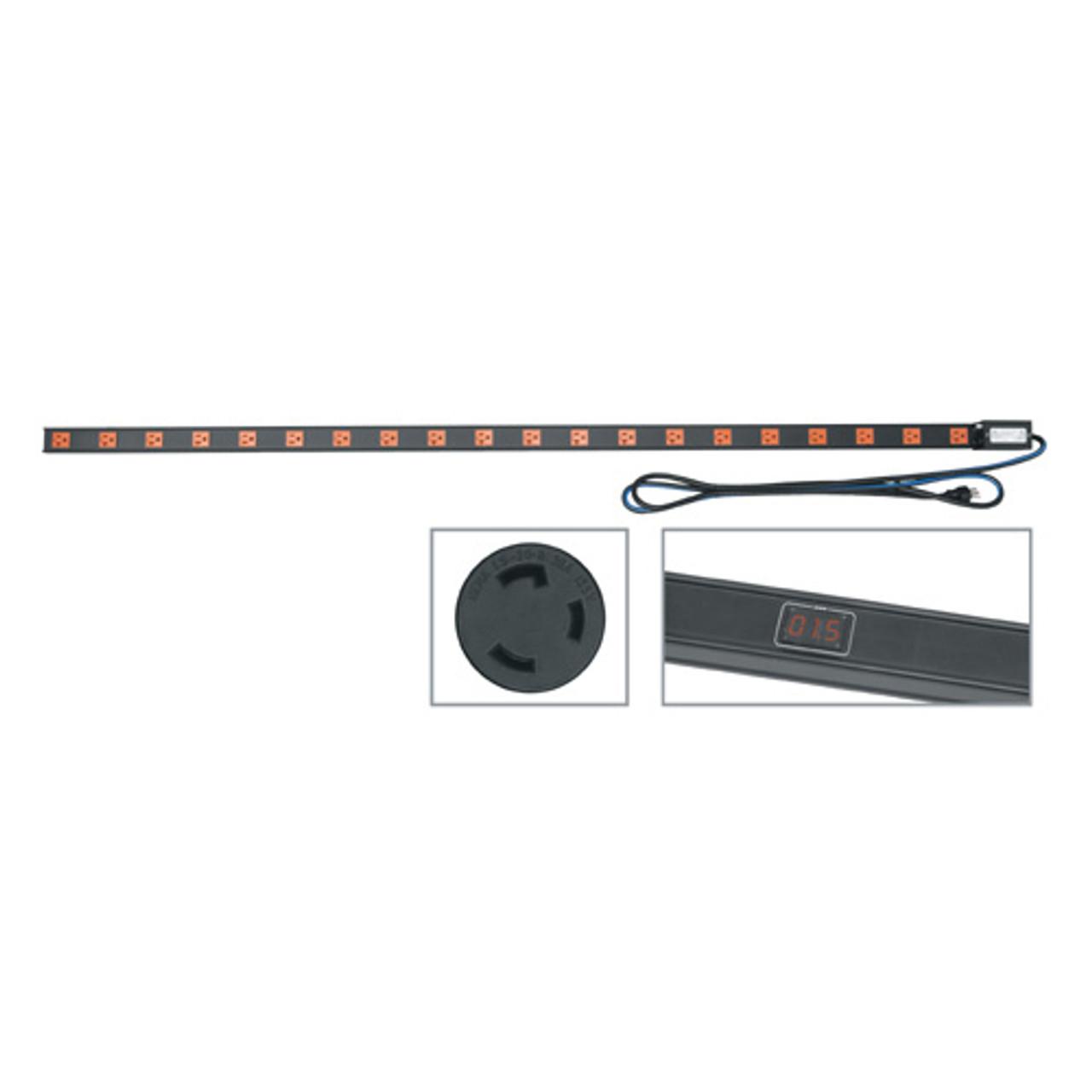 20 AMP Vertical Power Strip, 20 Outlets Twistlock Plug