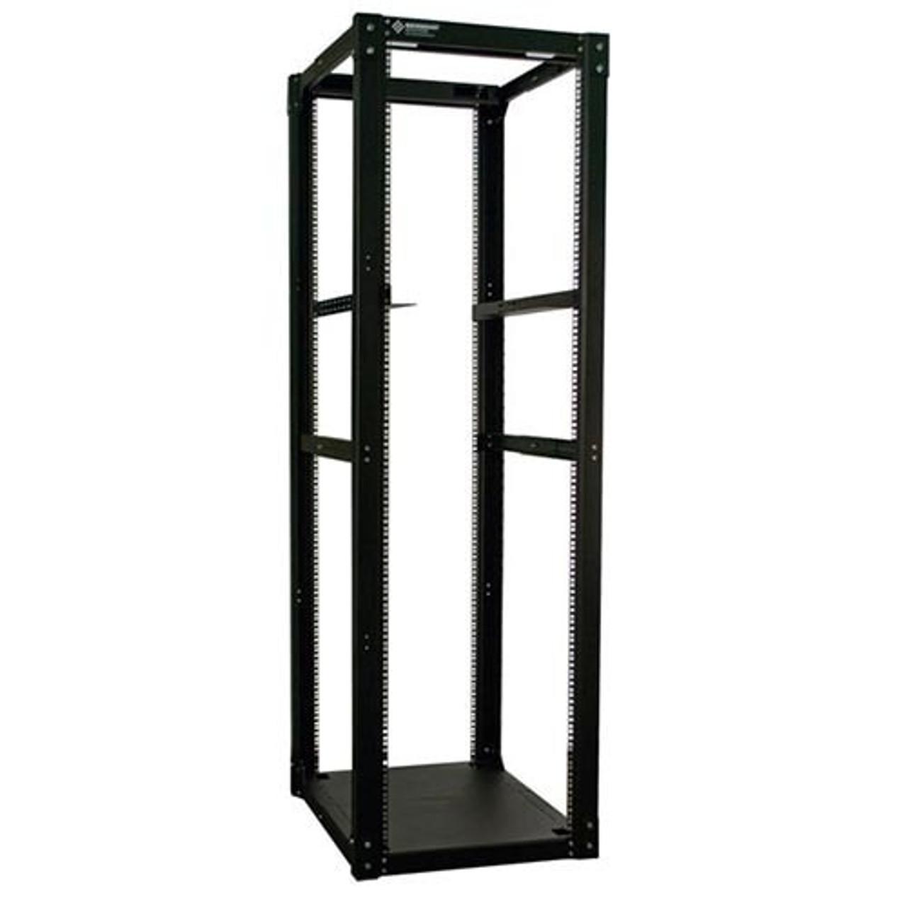 24u 4 Post Server Rack W Angle Brackets