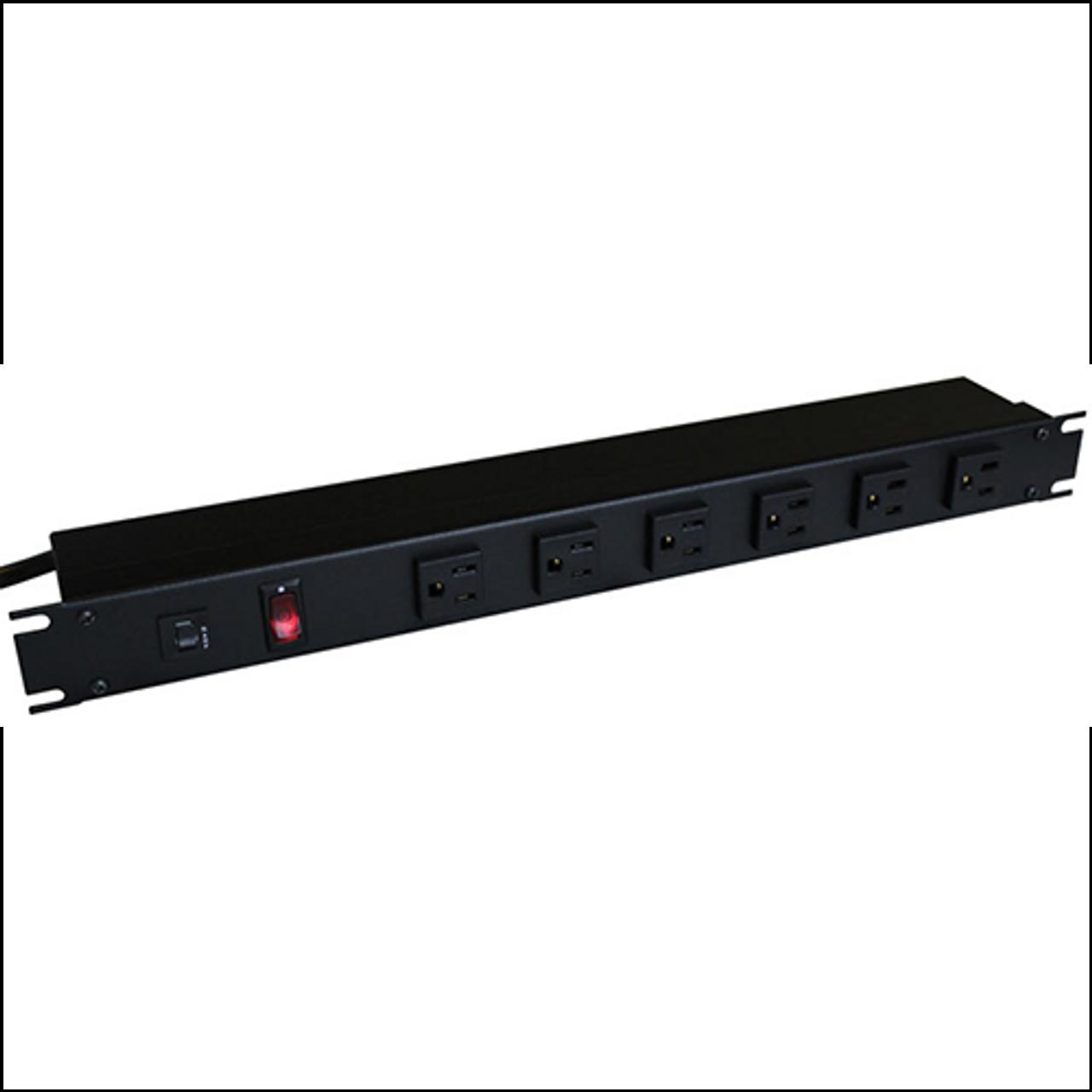 Industrial rack mount power strip