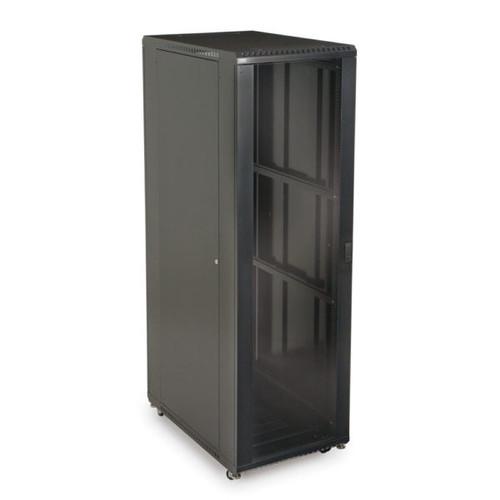"Kendall Howard 3101-3-001-42 - 42U LINIER Server Cabinet - Glass/Solid Doors - 36"" Depth"
