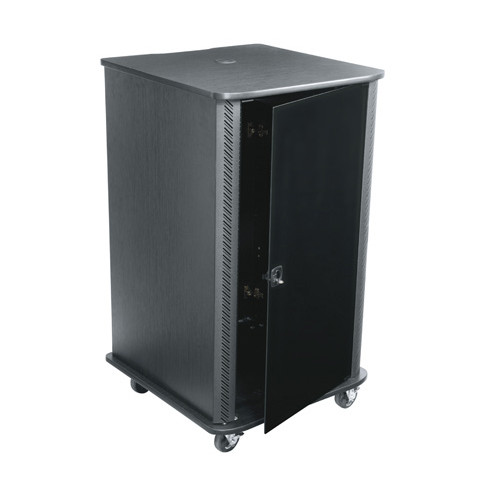 20u Portable Server Rack - Black Finish