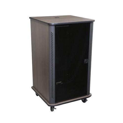 24u Portable Server Rack - Black Finish