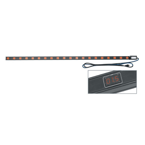 20 AMP Vertical Power Strip, 20 Outlets with Meter