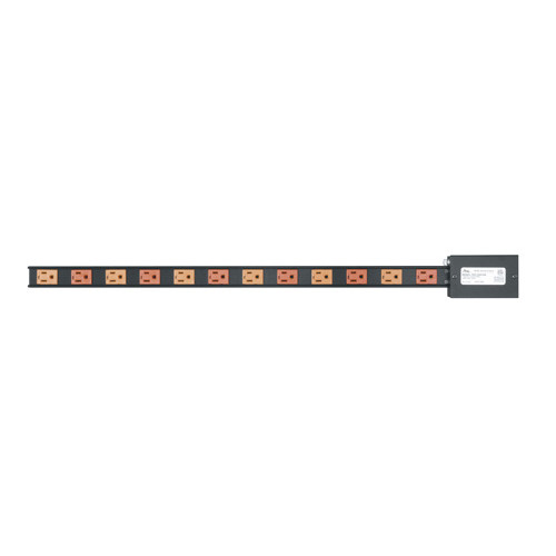15 AMP Vertical Power Strip, 12 Outlets Hardwired