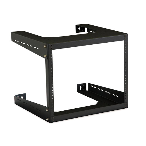 "8u 18""D  Open Frame Wall Mount Rack with Hardware"