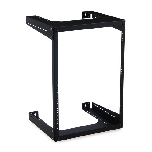"15u 18""D Open Frame Wall Mount Rack with Hardware"