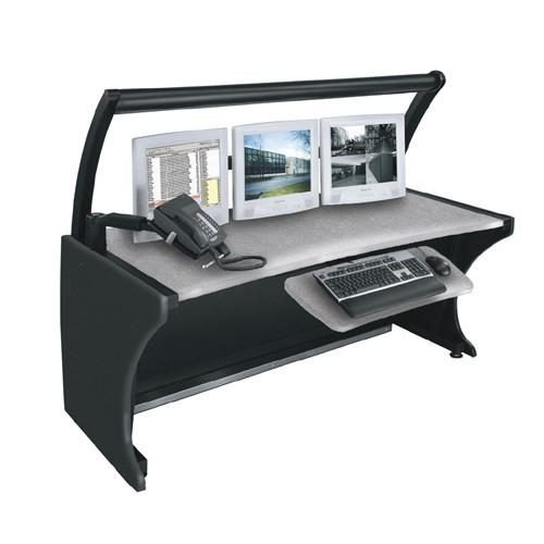 """64"""" LCD Monitoring Desk Honey Maple"""