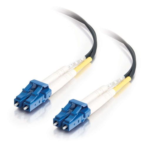 5m LC-LC 9/125 OS2 Duplex Single-Mode PVC Fiber Optic Cable - Black