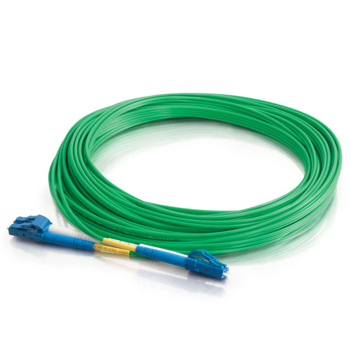 1m LC-LC 9/125 OS2 Duplex Single-Mode PVC Fiber Optic Cable - Green