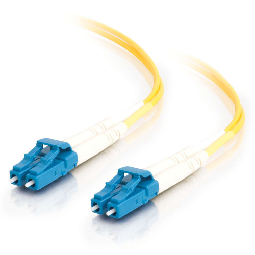 7m LC-LC 9/125 OS2 Duplex Single-Mode Fiber Optic Cable - Plenum CMP-Rated - Yellow