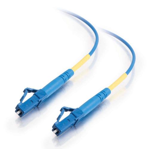 3m LC-LC 9/125 OS2 Simplex Single-Mode PVC Fiber Optic Cable - Blue