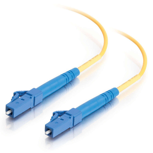 7m LC-LC 9/125 OS2 Simplex Single-Mode Fiber Optic Cable - Plenum CMP-Rated - Yellow