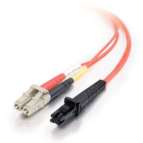 1m MTRJ-LC 62.5/125 OM1 Duplex Multimode PVC Fiber Optic Cable - Orange