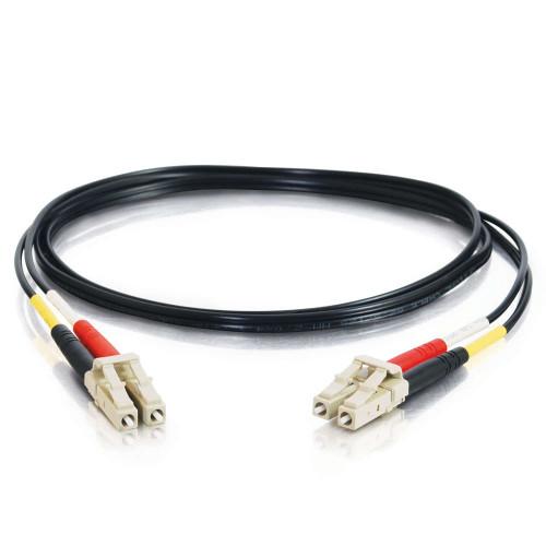 5m LC-LC 62.5/125 OM1 Duplex Multimode PVC Fiber Optic Cable - Black