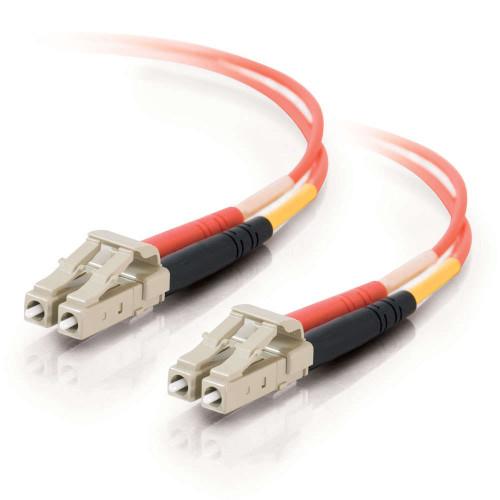 3m LC-LC 50/125 OM2 Duplex Multimode Fiber Optic Cable - Low Smoke Zero Halogen LSZH - Orange