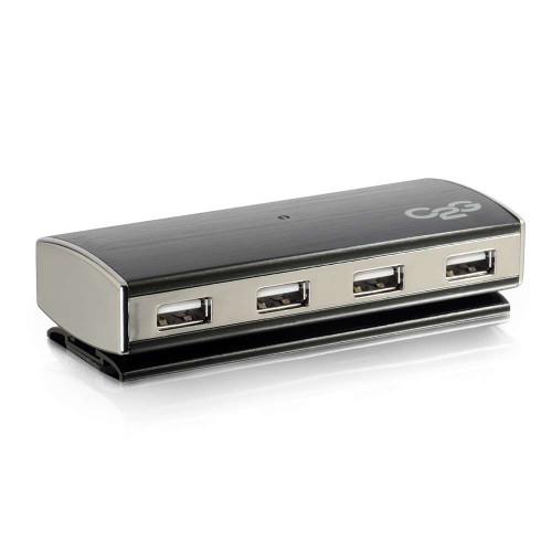 4-Port USB 2.0 Aluminum Hub for Chromebooks, Laptops, and Desktops