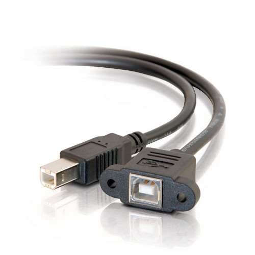 2ft Panel-Mount USB 2.0 B Female to B Male Cable