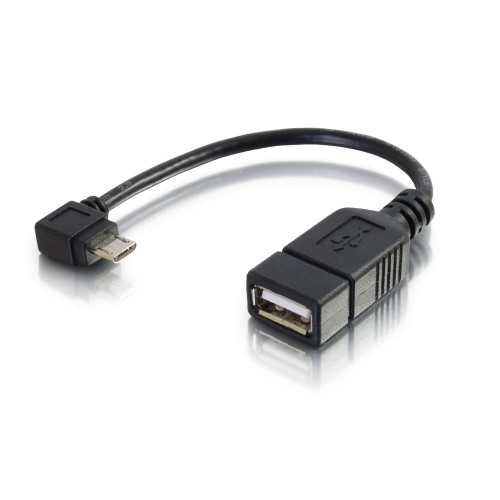 6in Mobile Device USB Micro-B to USB Device OTG Adapter Cable