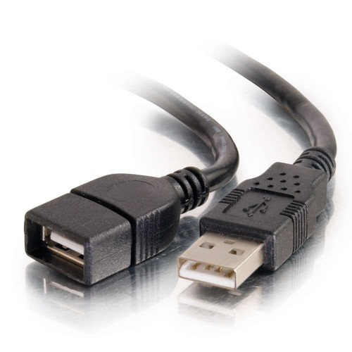1m USB 2.0 A Male to A Female Extension Cable - Black