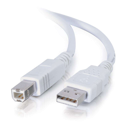 2m USB 2.0 A/B Cable - White