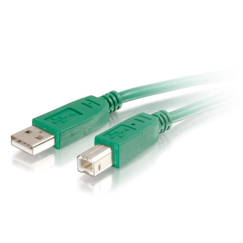 2m USB 2.0 A/B Cable - Green