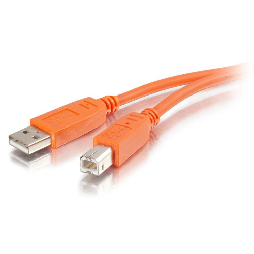 2m USB 2.0 A/B Cable - Orange