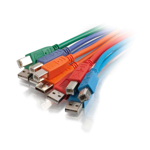 2m  USB 2.0 A/B Cable Multipack  - Multi-Color
