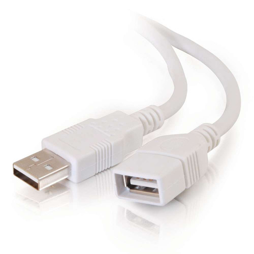 2m USB 2.0 A Male to A Female Extension Cable - White